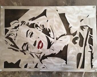 2ft Marilyn Monroe steel wall art