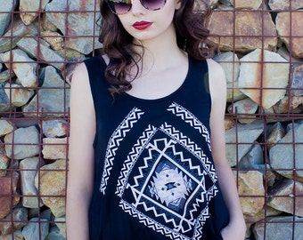 Black Sleeveless Tank Top