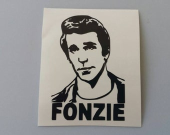FONZIE Happy Days Vinyl Car Window Decal . Free Shipping * Laptop Wine Glass Beer Mug Frame Sports Bottle Organizer Sticker