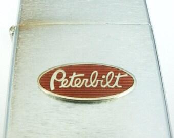 Peterbilt Truck Brushed Stainless Steel Windproof Lighter