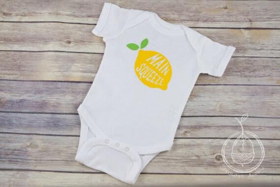 Yellow Lemon Baby e Piece Summer Baby Bodysuit Main