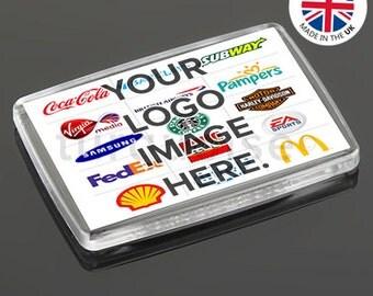 Personalised Promotional Custom Business Fridge Magnets 66 x 44 mm | Large