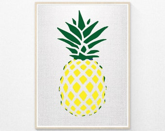 Pineapple Print, Tropical Print, Pineapple Photo, Fruit Print, Pineapple Wall Art, Printable Wall Art, Instant Download
