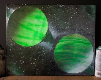 Singularity - Spray Paint on Canvas 16in x 20in