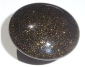 Custom made One of a Kind Furniture and Cabinet Knob-Gold Metal Flake over Black