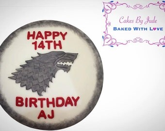 """FREE SHIPPING! Game Of Thrones Wolf Cake Topper Decoration """"Winter Is Coming"""""""