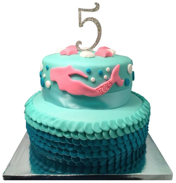 Edible Cake Images Mermaid : Edible Fondant: Swimming Mermaid Cake Decoration Topper With