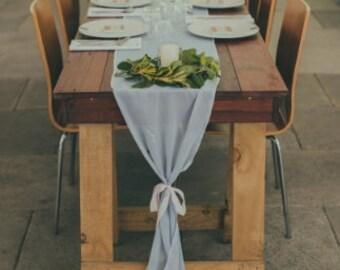 Custom made wedding table runner