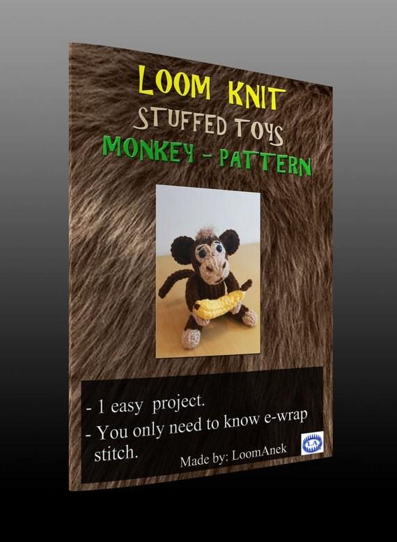 Loom Knitting Questions : Loom knit monkey pattern from loomanek on etsy studio