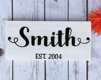 Rustic Last Name Sign Wood Name Sign Country Home Decor Wall Decor Family Gift for Newlyweds Anniversary Bride Groom Daughter Son gift