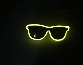 Yellow Neon Glasses