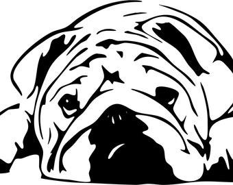 Bull Dog SVG files format