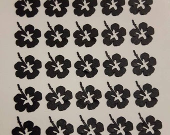 30 pantyhose hibiscus nails, nail stickers