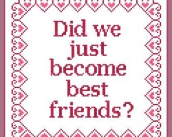 Best friends Cross Stitch Pattern