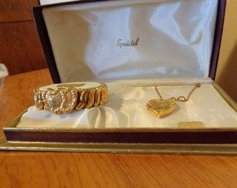 Speidel Phoenix bracelet and necklace set in original box