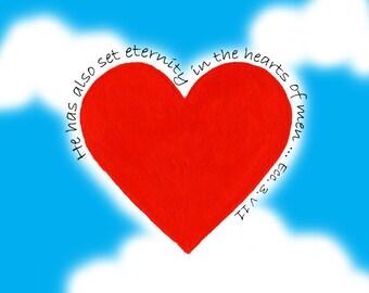 Heart Card Series - Cloud