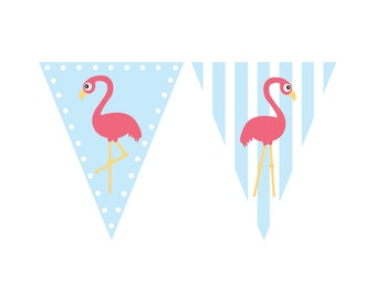 Flamingo Birthday Banner