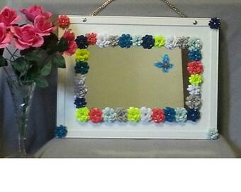Custom made flower mirror