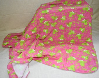 Leaping Frogs Recieving Blanket Duo