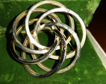 Vintage Gold Tone Intertwined Brooch