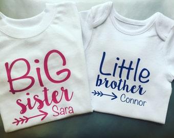 Sibling Shirt Set - Brother & Sister - Shirts and Onesies