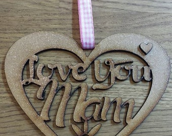 Happy Mother's Day Mam heart wall plaque