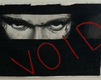 "SchoolboyQ intense charcoal 7""x10"" original portrait"