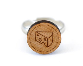 Swiss Cheese Ring, Wooden Ring, Gift For Him or Her, Wedding Gifts, Groomsman Gifts, and Personalized