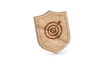 Archery Target Lapel Pin, Wooden Pin, Wooden Lapel, Gift For Him or Her, Wedding Gifts, Groomsman Gifts, and Personalized