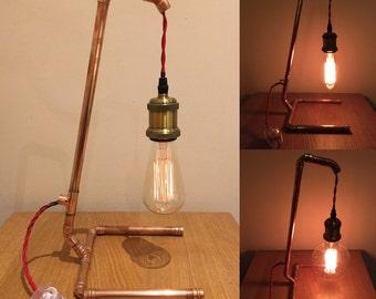 Copper and Edison night light