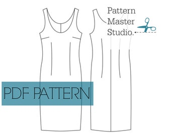 Fitted Dress Block PDF Downloadable Sewing Pattern Sloper