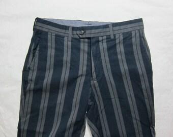 Global Work Stripe Cropped Length Trousers Japan