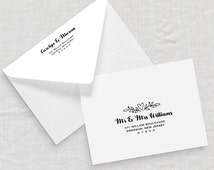 Printable Envelope Template, Wedding Address Template, Editable Text, Calligraphy Stamp, Instant Download, A7, A1, PDF Template