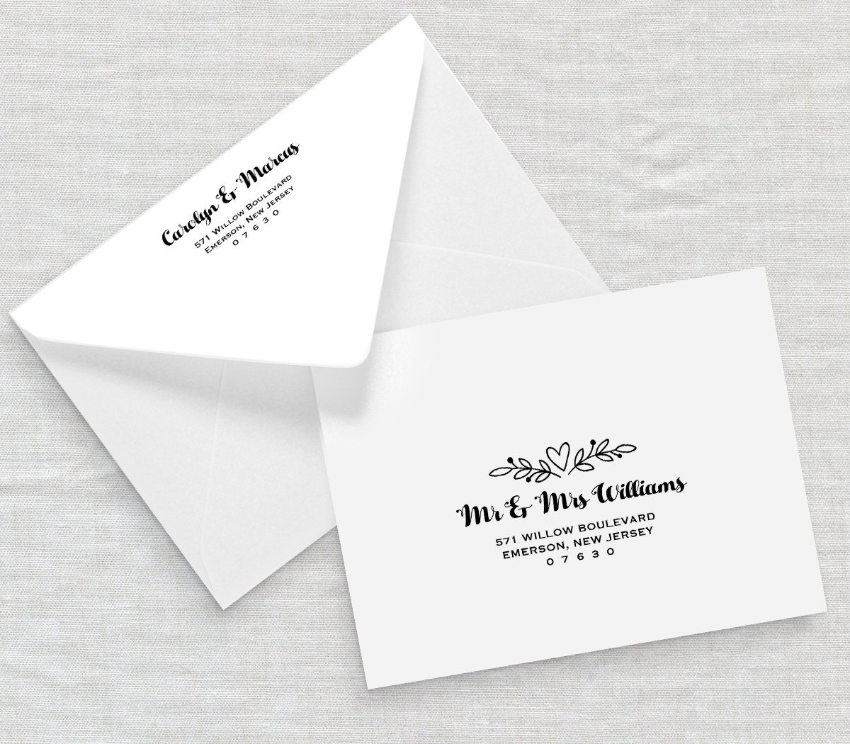 Printable Envelope Template Wedding Address Template Editable – Calligraphy Paper Template