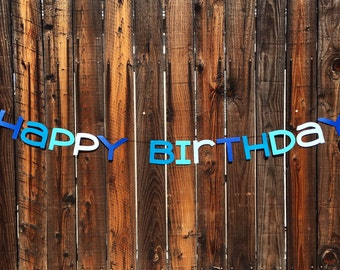 Shades of Color Birthday Banner
