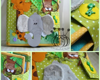 Quiet Book Busy Book ( 2-7 age) Eco friendly Soft Book Educational book 14 pages  activity book felt book felt book