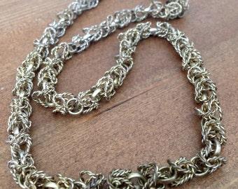 Goldtone Braided Link Necklace