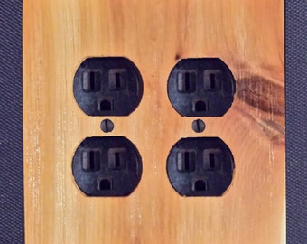 Cedar Wooden Outlet Plate Cover