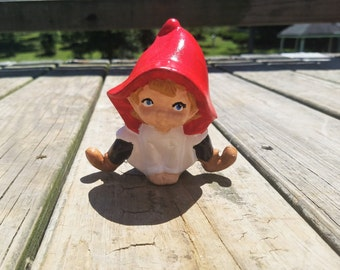 Acrylic painted cousin of a gnome - pixie / sprite