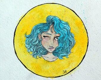 Speckled   Original Watercolor   5x5