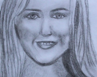 Custom portrait in charcoal - made to order