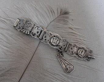 Vintage French Souvenir Bracelet - Paris