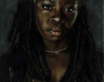 """PRINT """"Michonne"""" - The Walking Dead"""