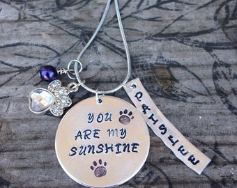 Dog Lover necklace~ Hand stamped~ Personalized necklace~Memorial necklace~Dog lover gift