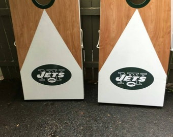 NY Jets Cornhole Boards
