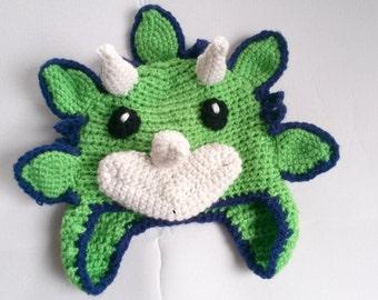 Crochet Triceratops Hat