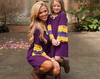Fashion Family Fitted Match Dress Set
