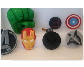 Edible Avengers inspired Complete Cake Decoration set