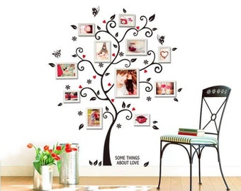 Large Size Family Photo Frame Tree Wall Sticker