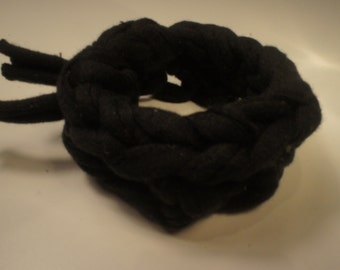 Knitted crochet trapillo bracelet
